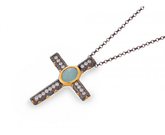 Artisan Crafted  Sterling Silver Cross Necklace