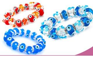 Glass Evil Eye Bracelets