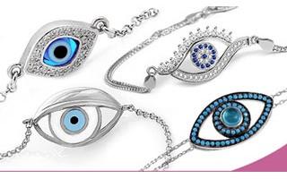 Silver Evil Eye Bracelets