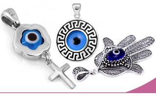 Silver Evil Eye Pendants