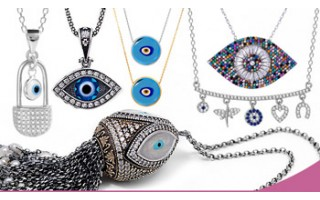 Silver Evil Eye Necklaces