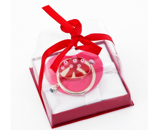 Pacifier for Baby Girl with Evil Eye