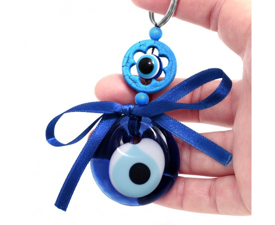 Evil Eye Car Mirror Hanging with Evil Eye Charm of Protection