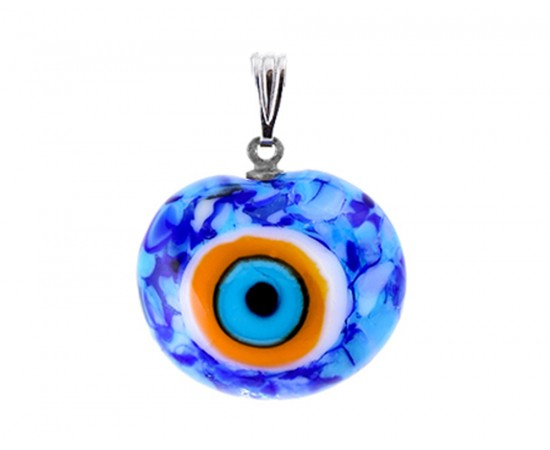 Mixed Blue Evil Eye Pendant