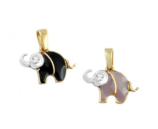 Elephant Good Luck Gold Pendant