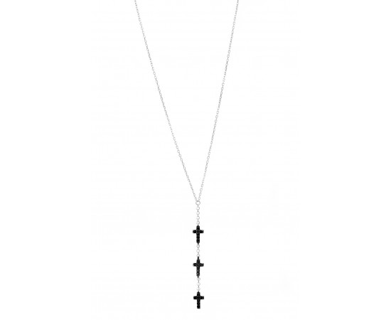 Celebrity Inspired Mini Cross Charms Necklace