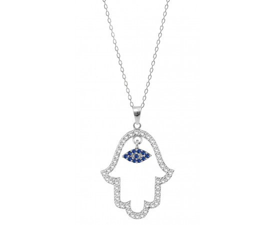 Hand of Fatima Evil Eye Necklace