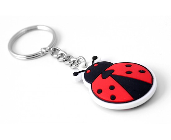 Cute Keychains - Two Pieces Silicone Ladybird