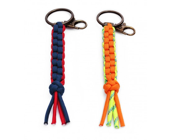 Box Knot Paracord Keychain