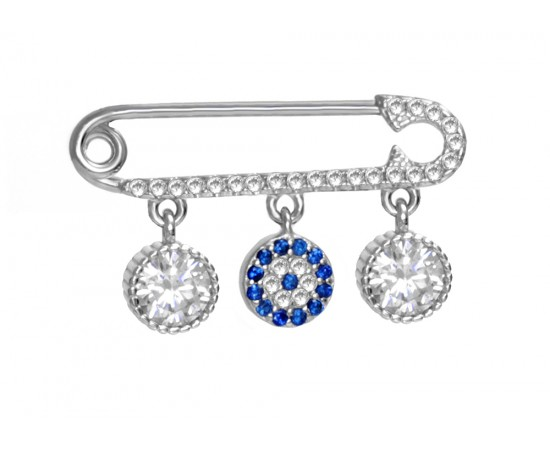 Baby Pin with Protection Evil Eye