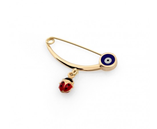 Gold Evil Eye Baby Protector Pin
