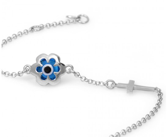 Evil Eye Bracelet with Greek Mati
