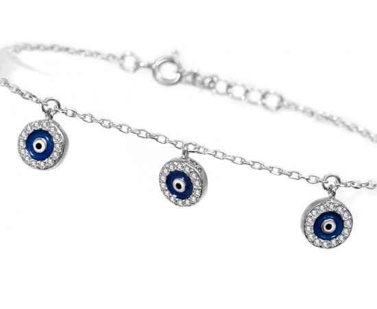 Evil Eye Bracelet with Silver Evil Eye Charms