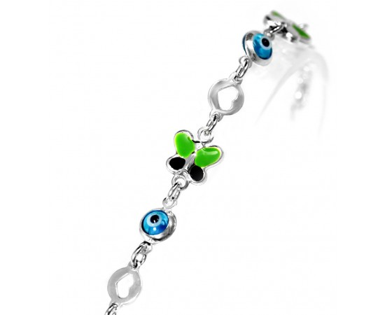 Evil Eye Butterfly Kid Charm Bracelet.