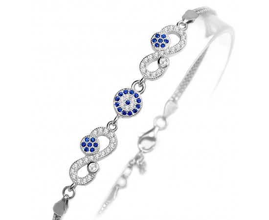 Evil Eye Eternity Bracelet