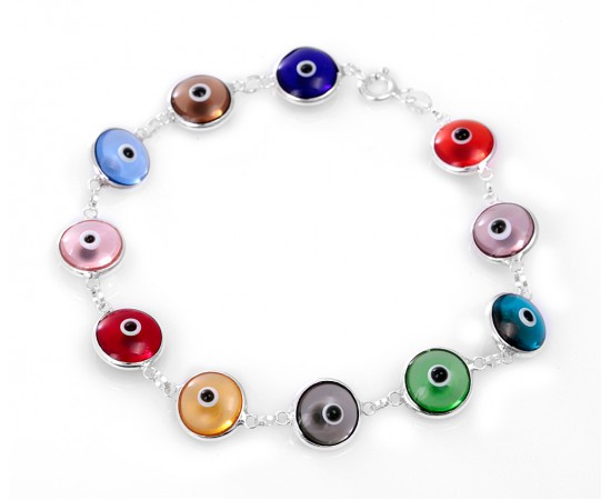 Multicolor Evil Eye Bracelet with Lucky Eyes