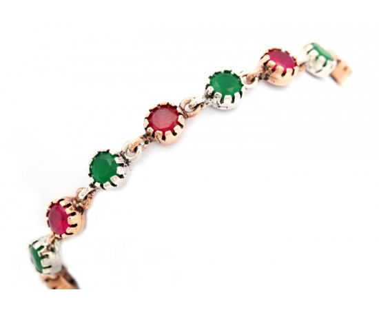 Antique Style Turkish Gemstone Bracelet