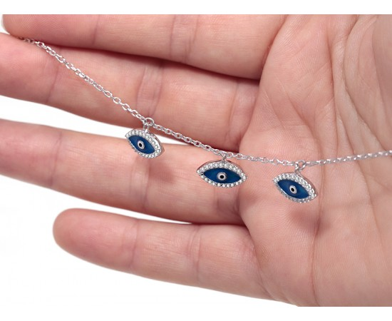 Evil Eye Bracelet with All Seeing Eye Charms