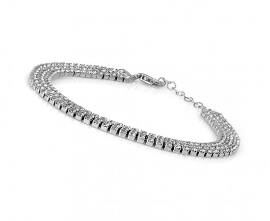 Wedding Three - Row Tennis Bracelet