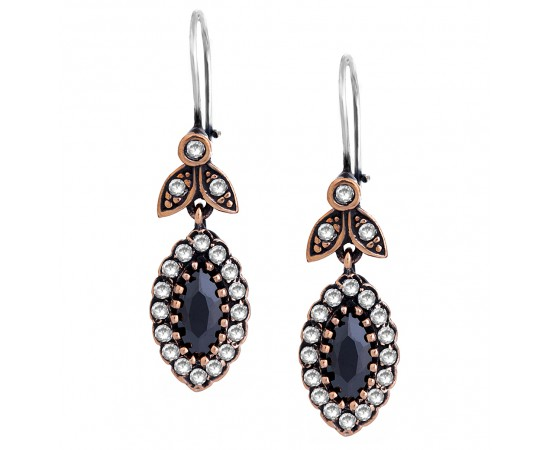 Antique Earrings with Marcasite