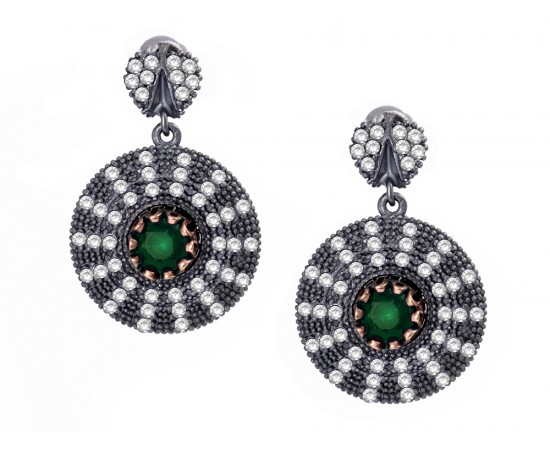 Antique Style Circle Earrings