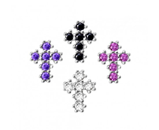 Mini Silver Greek Cross Earrings