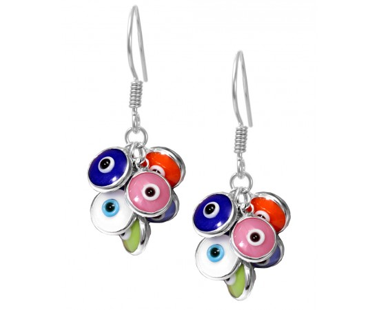 Multicolor Evil Eye Earrings