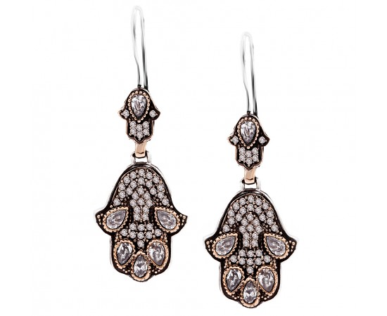 Vintage Hamsa Hand  Earrings