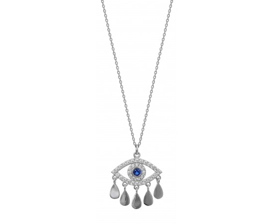 evil eye dangle necklace