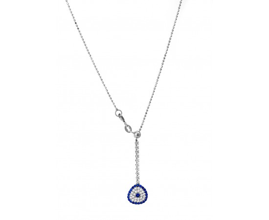Evil Eye Necklace with Adjustable Chain
