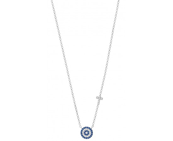 Evil Eye Necklace with Cz Stones