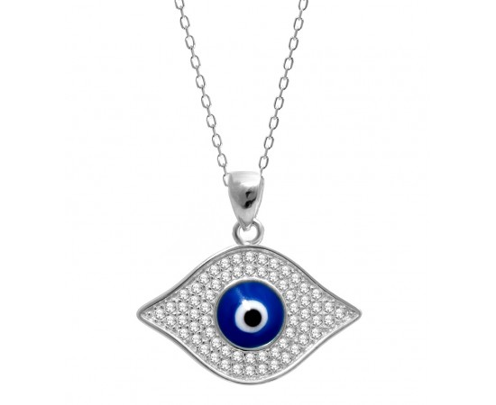 Evil Eye Pendant with Greek Evil Eye