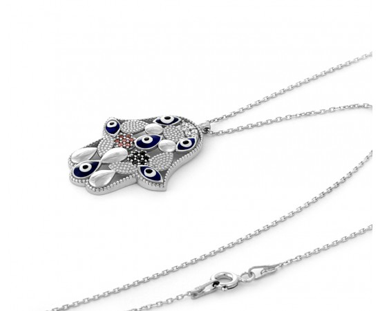 Eye of Fatima Evil Eye Necklace