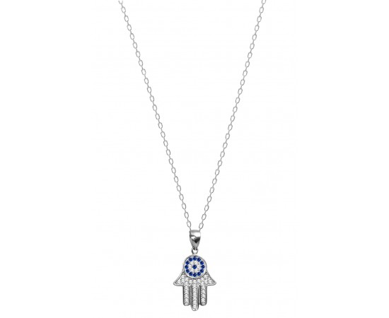Eye of Fatima Hamsa Necklace
