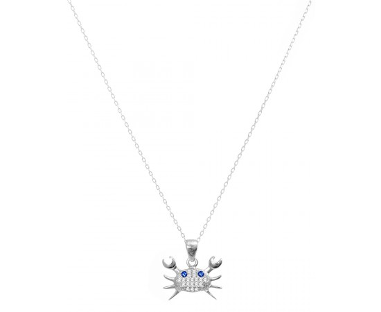 Good Luck Protection Sea Life Charm - Crab Pendant Necklace