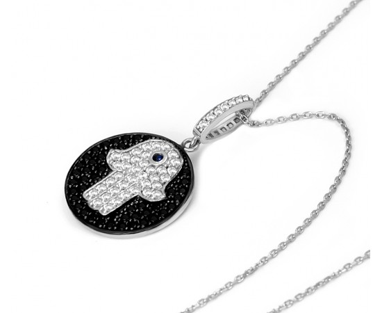 Hamsa Celebrity Evil Eye Necklace