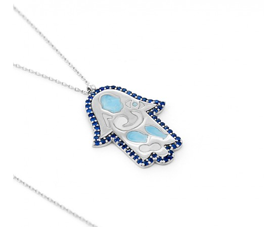 Hand of Hamsa Evil Eye Necklace