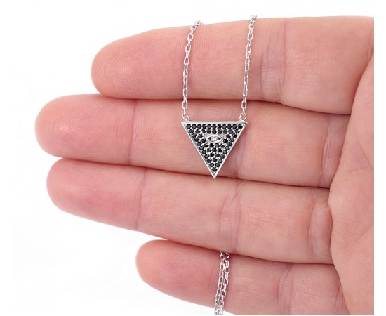 Inspired Pyramid Necklace with All seeing Eye