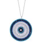Large Evil Eye Medallion Necklace by Evil Eye Store