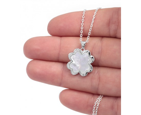 Silver Four Leaf Clover Necklace