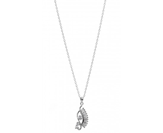 Silver Necklace with Cz Stones Wadjet Eye