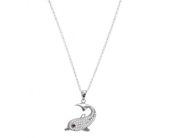 Sterling Silver Good Luck Dolphin Necklace