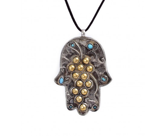 Vintage Hamsa or Hand of Fatima Necklace