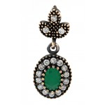 Antique Style Emerald Pendant by Evil Eye Store