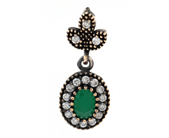 Antique Style Emerald Pendant