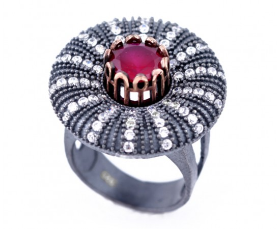 Artisan Crafted Sterling Ruby Ring