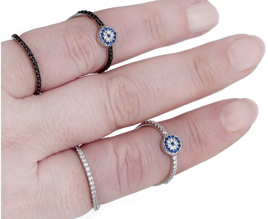 Double Layer Evil Eye Ring