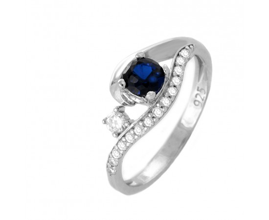 Eye Of Horus Sapphire CZ Protection Ring