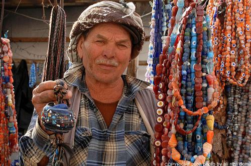 Evil Eye Bead Seller in Turkey