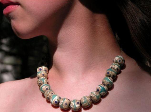 Evil eye necklace found in Siberia